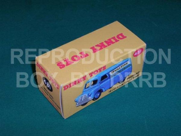 Dinky #481 Bedford Van 'Ovaltine' - Reproduction Box